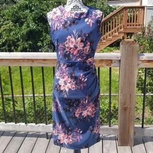NWT Apricot Blue Floral Sleeveless Dress
